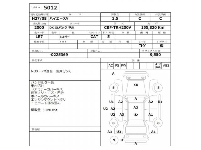 Import and buy TOYOTA HIACE VAN 2015 from Japan to Nairobi, Kenya